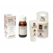 Crema post tratament 300 ml , peeling chimic glicolic & protectie solara 50 ml.