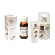 Protectie solara 50 ml , crema post tratament 300 ml & Peeling chimic pt. tonifiere